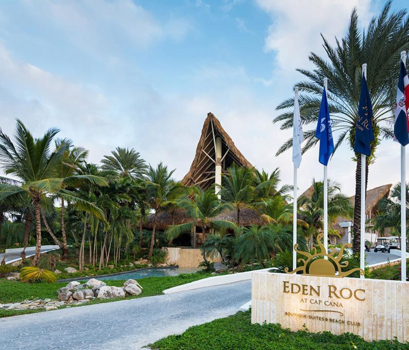 Eden Roc at Cap Cana - bejárat (Dominikai utazások)