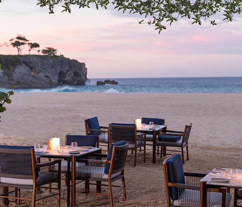 Amanera - étterem a parton (Dominikai utazások)