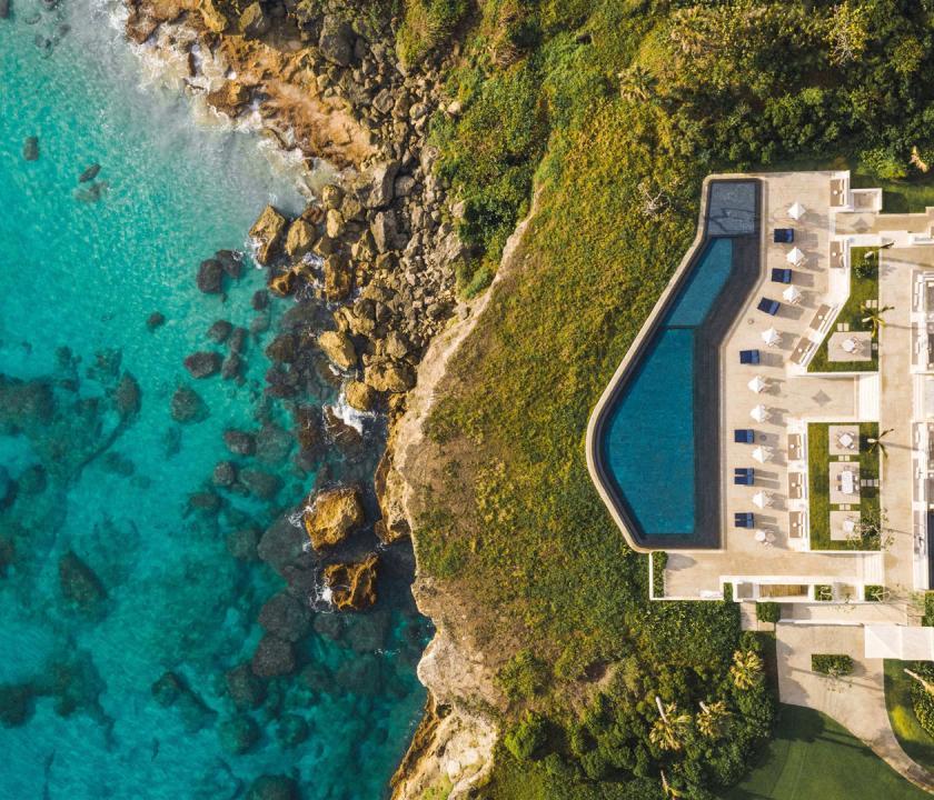 Amanera - a hotel felülről (Dominikai utazások)