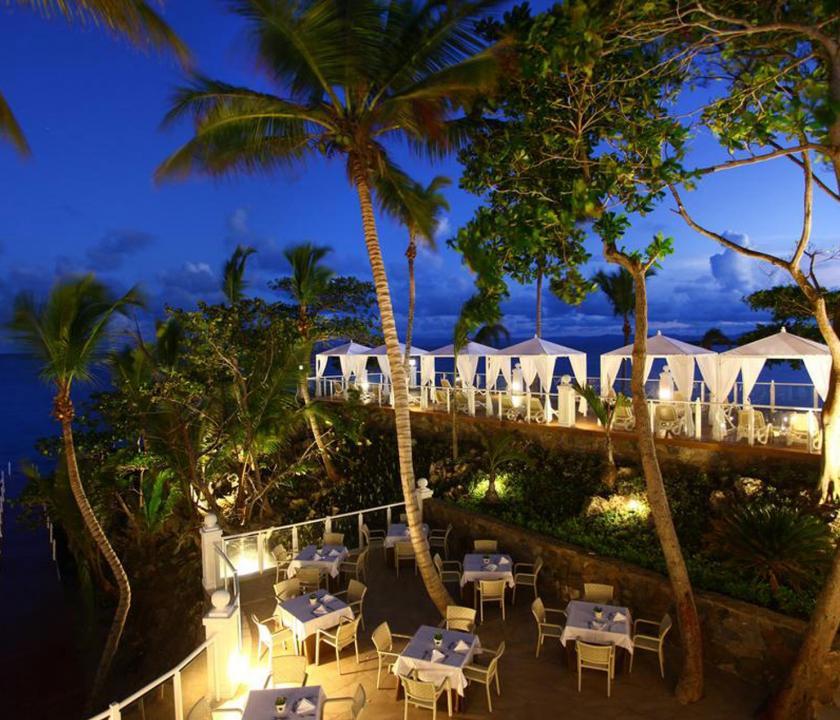 Luxury Bahia Principe Samana - a terasz este (Dominikai utazások)