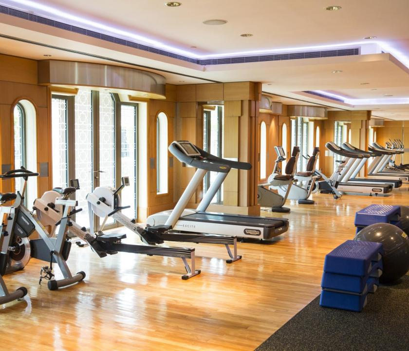 Emirates Palace - fitness terem (Dubai utazások)