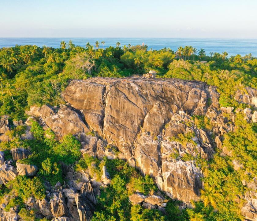 Fregate Island Private - tájkép (Seychelle szigeteki utazások)