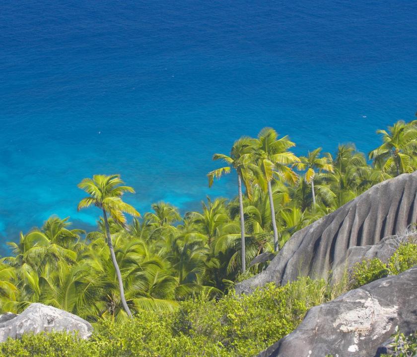 Fregate Island Private - látkép (Seychelle szigeteki utazások)