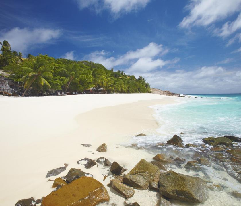 Fregate Island Private - tengerparti panoráma (Seychelle szigeteki utazások)