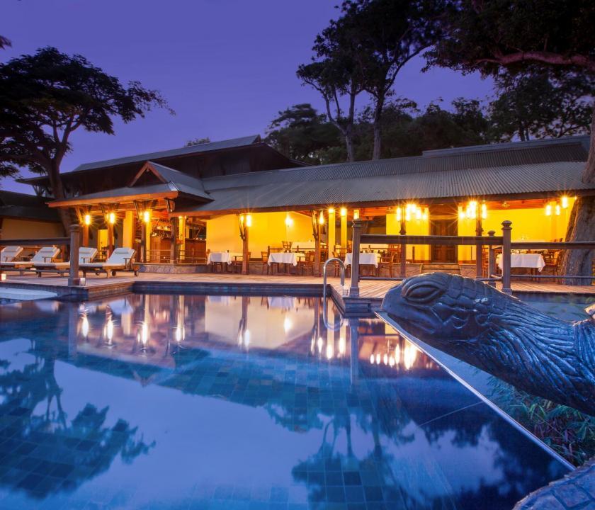JA Enchanted Island Resort - étterem (Seychelle szigeteki utazások)