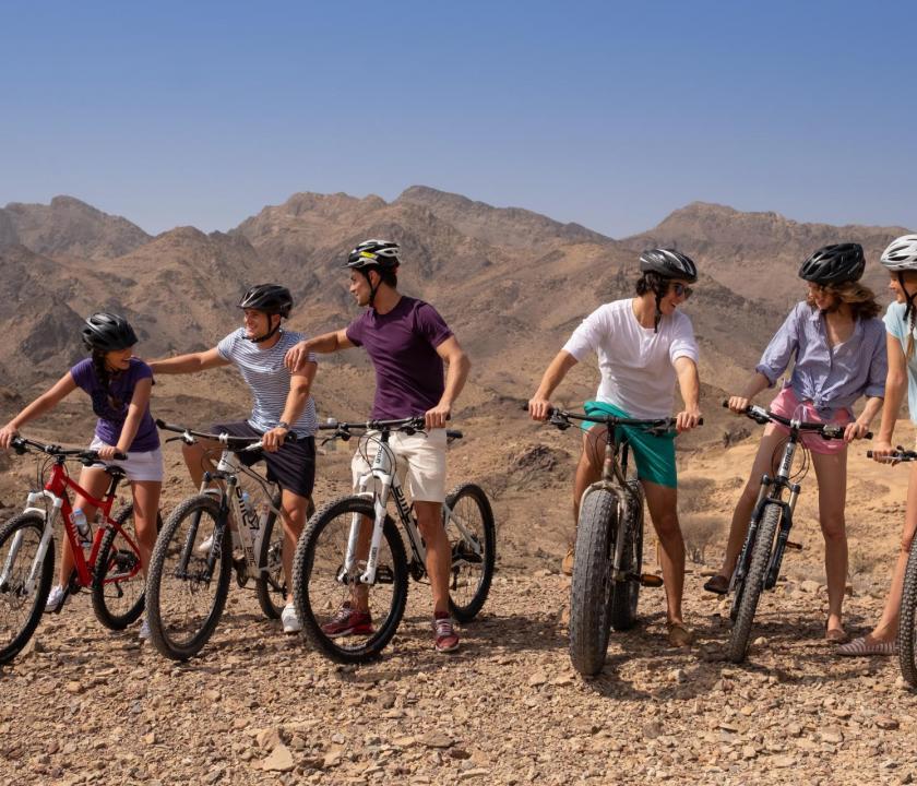 JA Hatta Fort Hotel - kerékpározás (Dubai utazások)