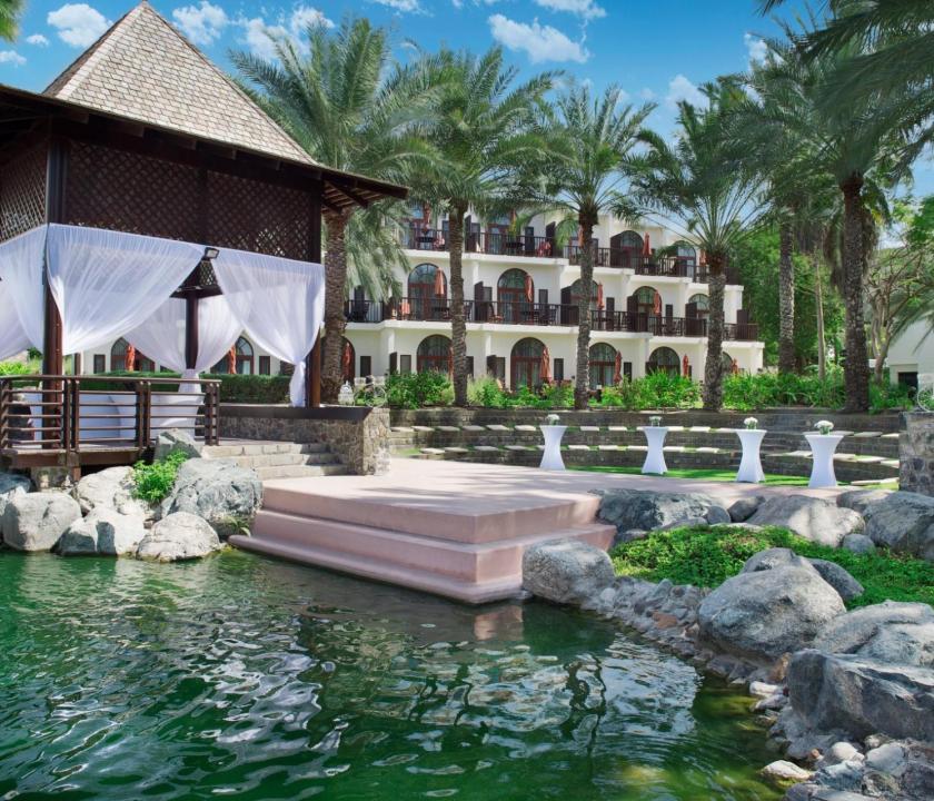 JA Lake View Hotel - kert (Dubai utazások)