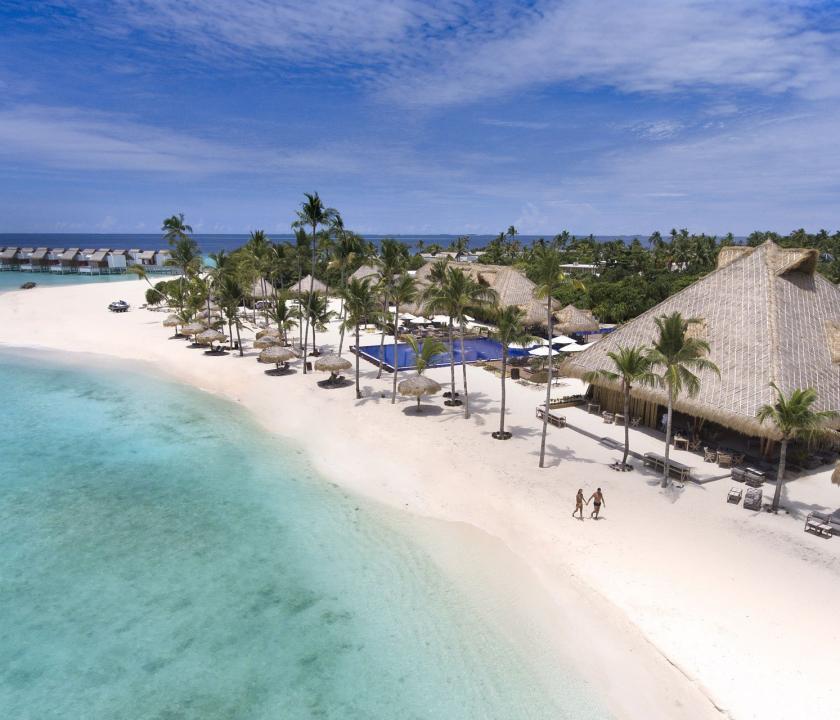 Emerald Maldives Resort & Spa - a sziget felülről (Maldív-szigeteki utazások)