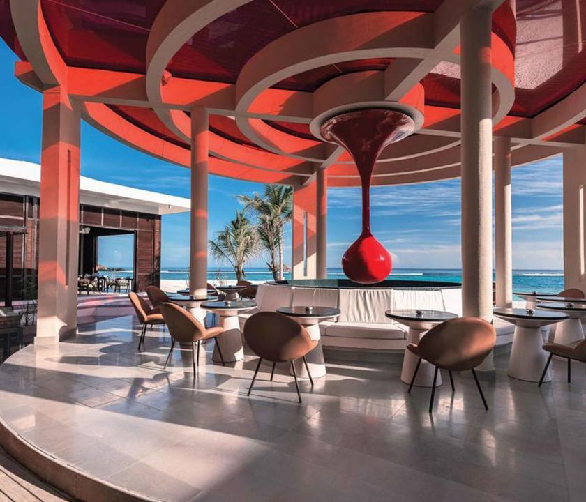 OBLU SELECT at Sangeli by Atmosphere - étterem a teraszon (Maldív-szigeteki utazások)