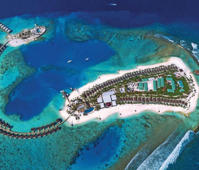 OBLU SELECT at Sangeli by Atmosphere - a sziget felülről (Maldív-szigeteki utazások)