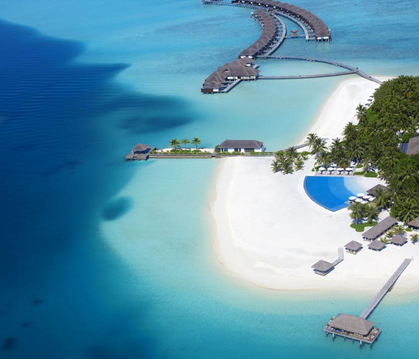 Velassaru Maldives - a sziget felülről (Maldív-szigeteki utazások)