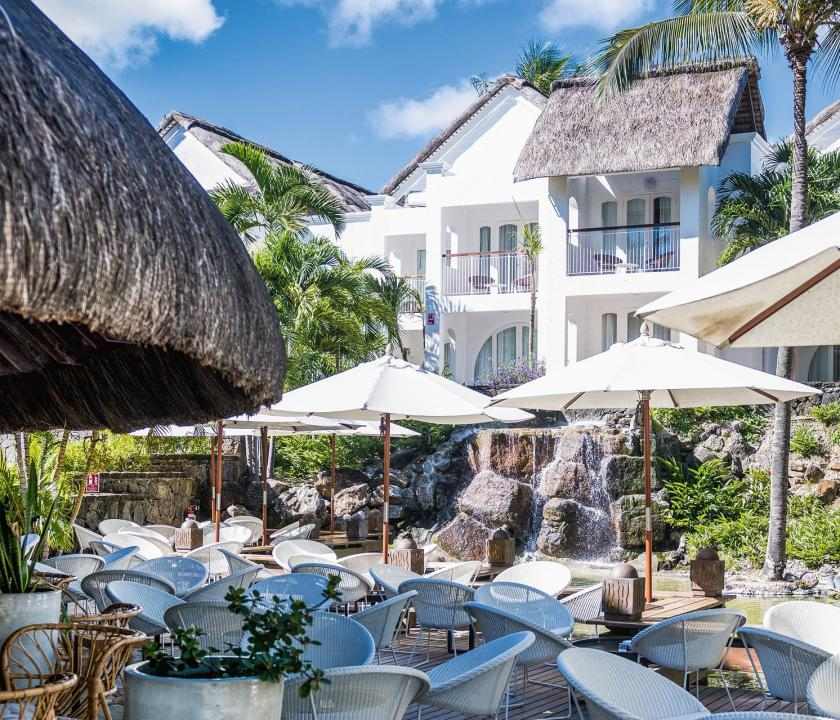 Canonnier Beachcomber Golf Resort & Spa - étterem terasza (Mauritiusi utazások)