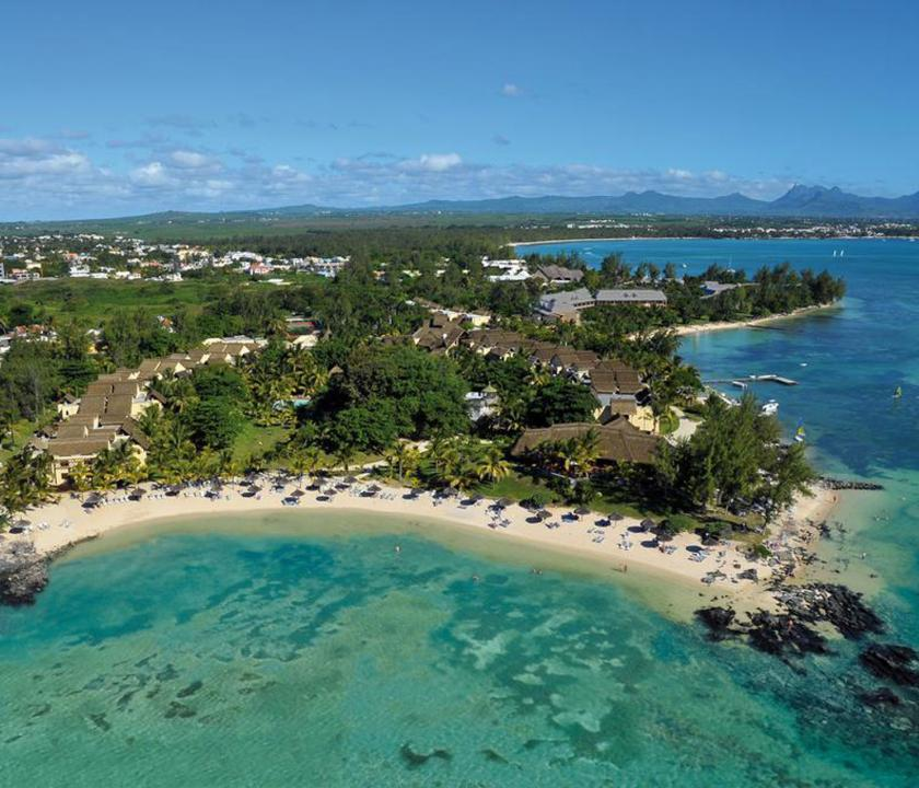 Canonnier Beachcomber Golf Resort & Spa - a sziget felülről (Mauritiusi utazások)