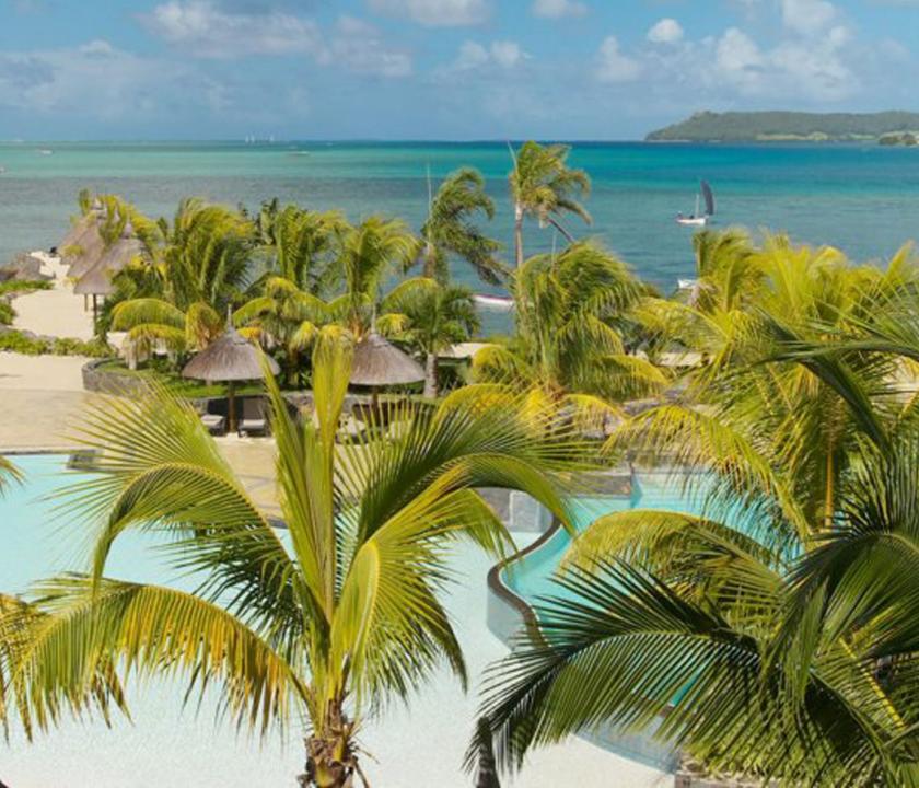 Laguna Beach Hotel & Spa - a hotel felülről (Mauritiusi utazások)