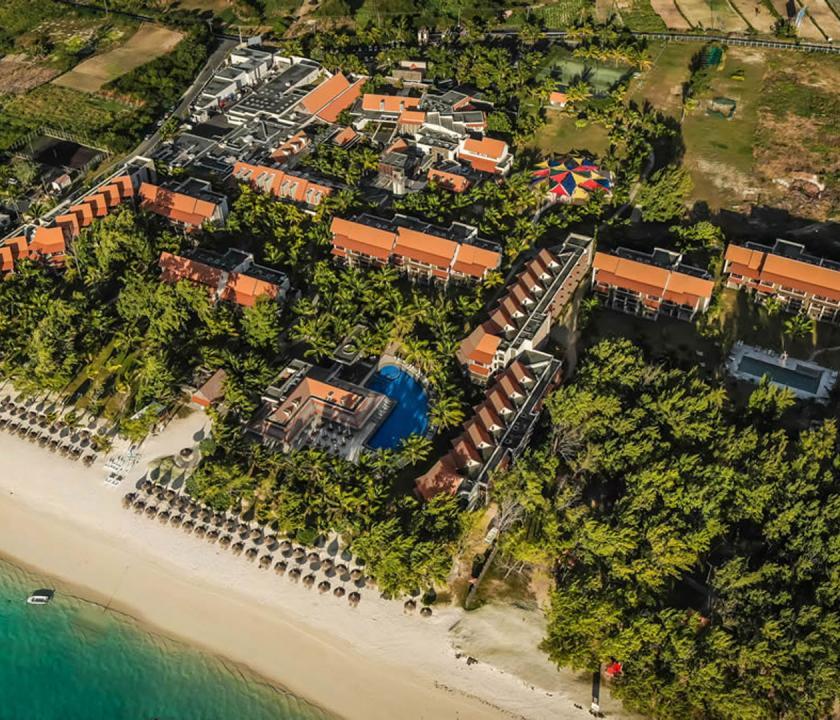 Maritim Crystals Beach Hotel - a hotel felülről (Mauritiusi utazások)