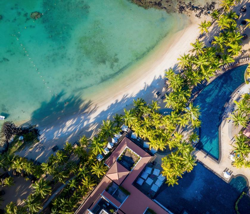 Mauricia Beachcomber Resort & Spa - a hotel felülről (Mauritiusi utazások)