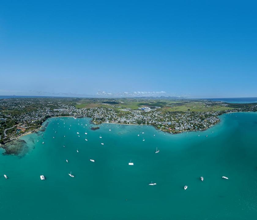 Mauricia Beachcomber Resort & Spa - a sziget felülről (Mauritiusi utazások)