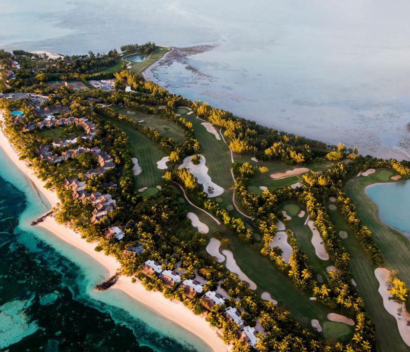 Paradis Beachcomber Golf Resort & Spa - a sziget felülről (Mauritiusi utazások)