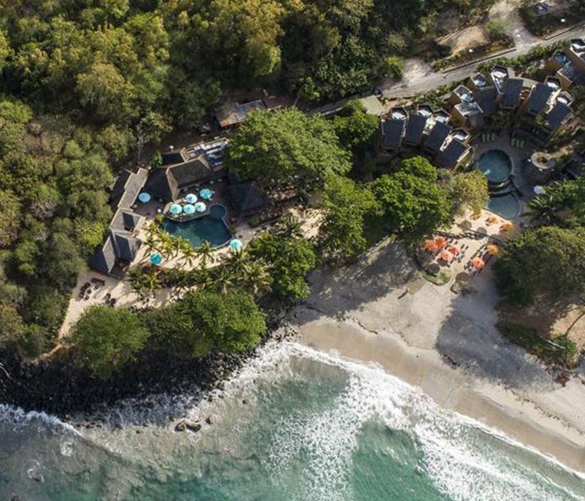 Tamarina Golf & Spa Boutique Hotel - a hotel felülről (Mauritiusi utazások)