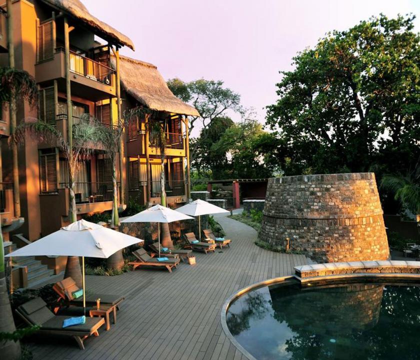 Tamarina Golf & Spa Boutique Hotel - terasz (Mauritiusi utazások)
