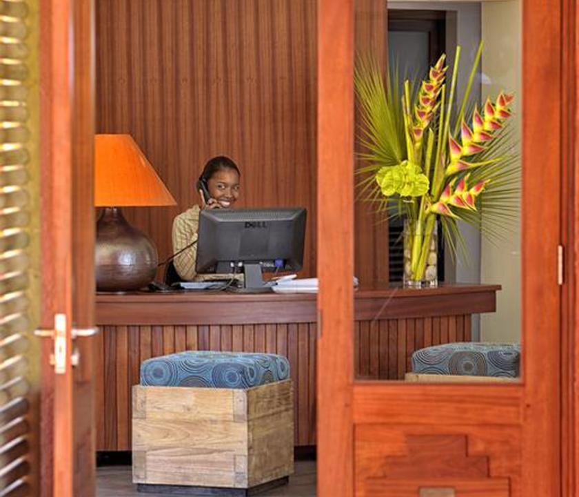 Tamarina Golf & Spa Boutique Hotel - recepció (Mauritiusi utazások)