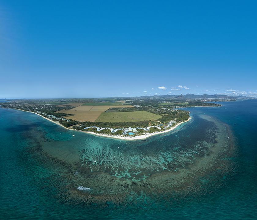 Victoria Beachcomber Resort & Spa - a sziget felülről (Mauritiusi utazások)