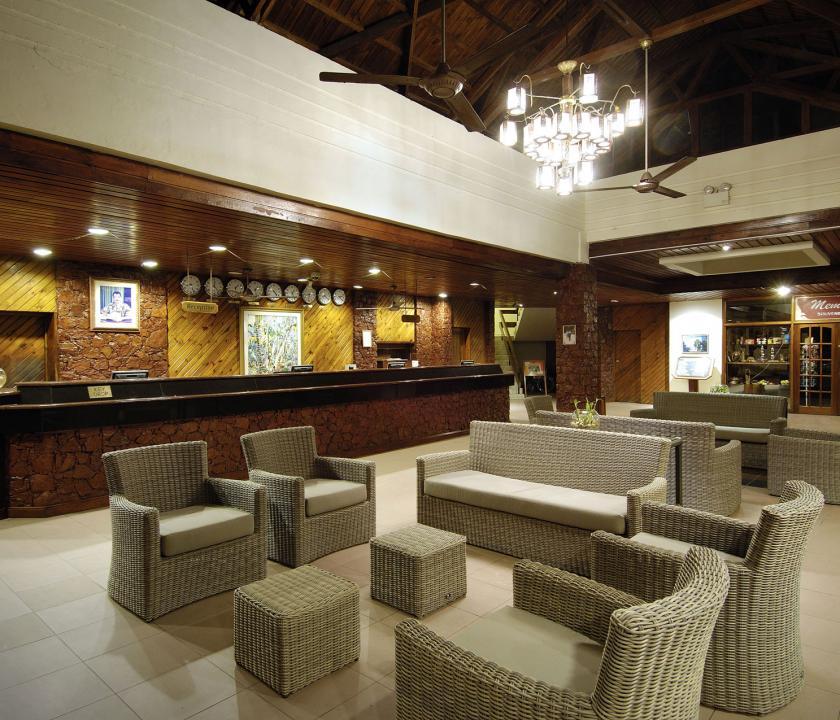 Berjaya Beau Vallon Bay Resort & Casino - recepció (Seychelle szigeteki utazások)