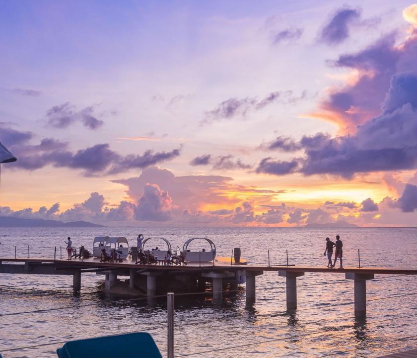Coco de Mer Hotel & Black Parrot Suites - móló (Seychelle szigeteki utazások)