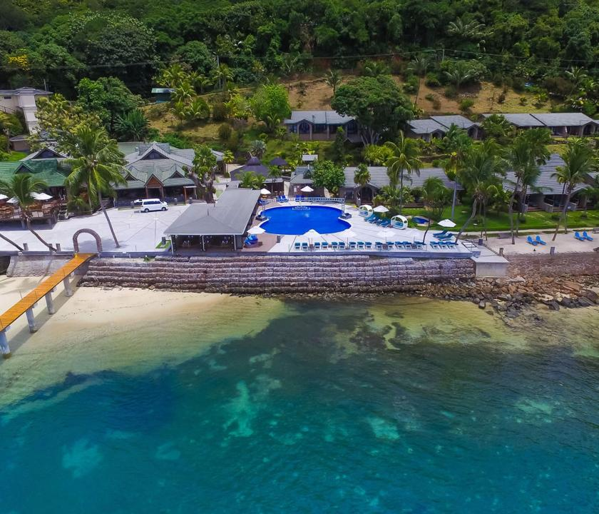 Coco de Mer Hotel & Black Parrot Suites - hotel felülről (Seychelle szigeteki utazások)