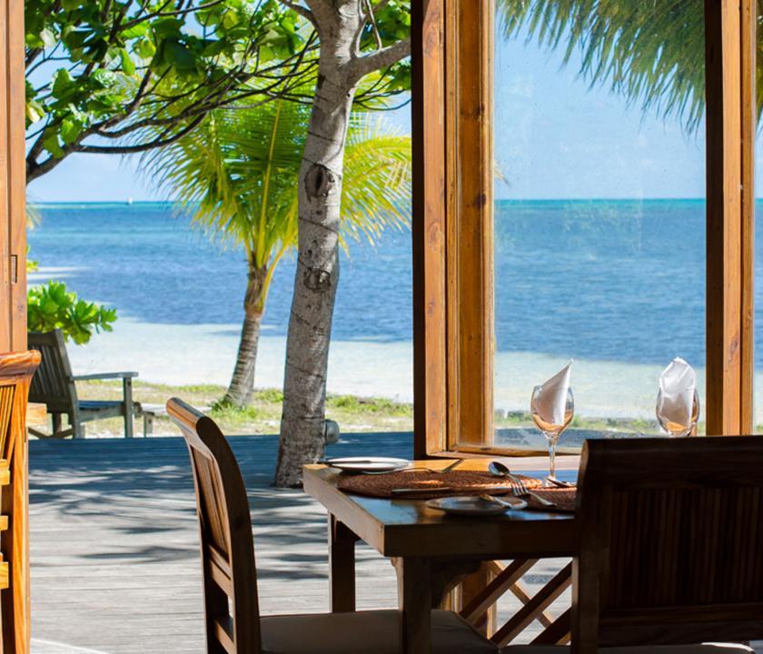 Indian Ocean Lodge - étterem (Seychelle szigeteki utazások)