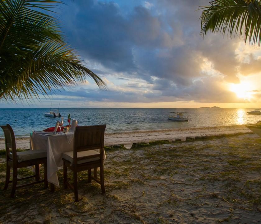 Indian Ocean Lodge - romantikus privát vacsora (Seychelle szigeteki utazások)