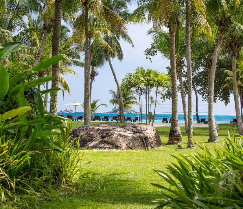 Paradise Sun Hotel - park (Seychelle szigeteki utazások)