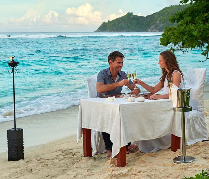 Hilton Seychelles Labriz Resort & Spa - romantikus privát ebéd (Seychelle szigeteki utazások)