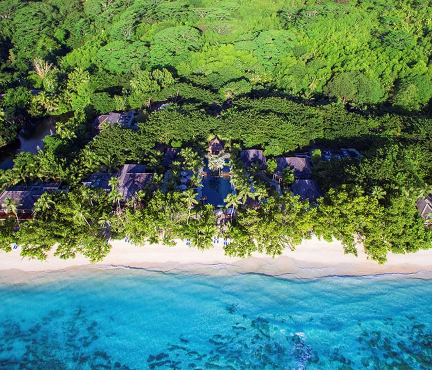 Hilton Seychelles Labriz Resort & Spa - hotel felülről (Seychelle szigeteki utazások)