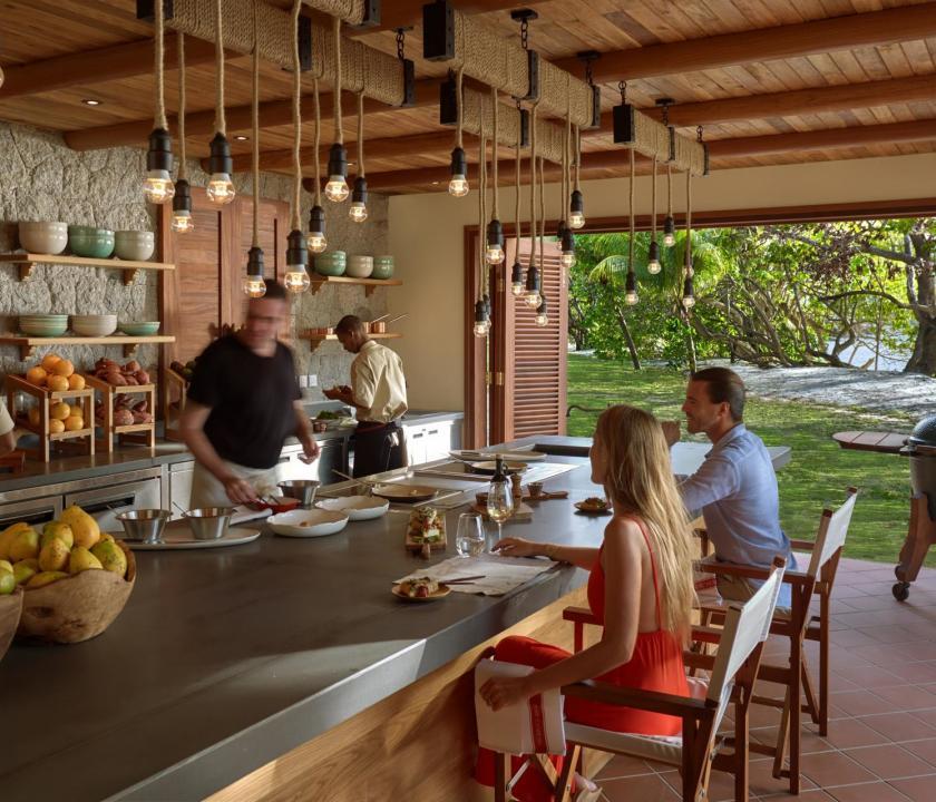 Six Senses Zil Pasyon Hotel - étterem (Seychelle szigeteki utazások)