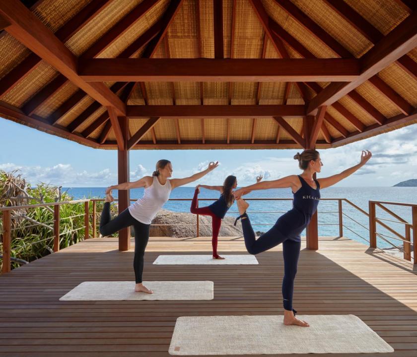 Six Senses Zil Pasyon Hotel - jóga (Seychelle szigeteki utazások)