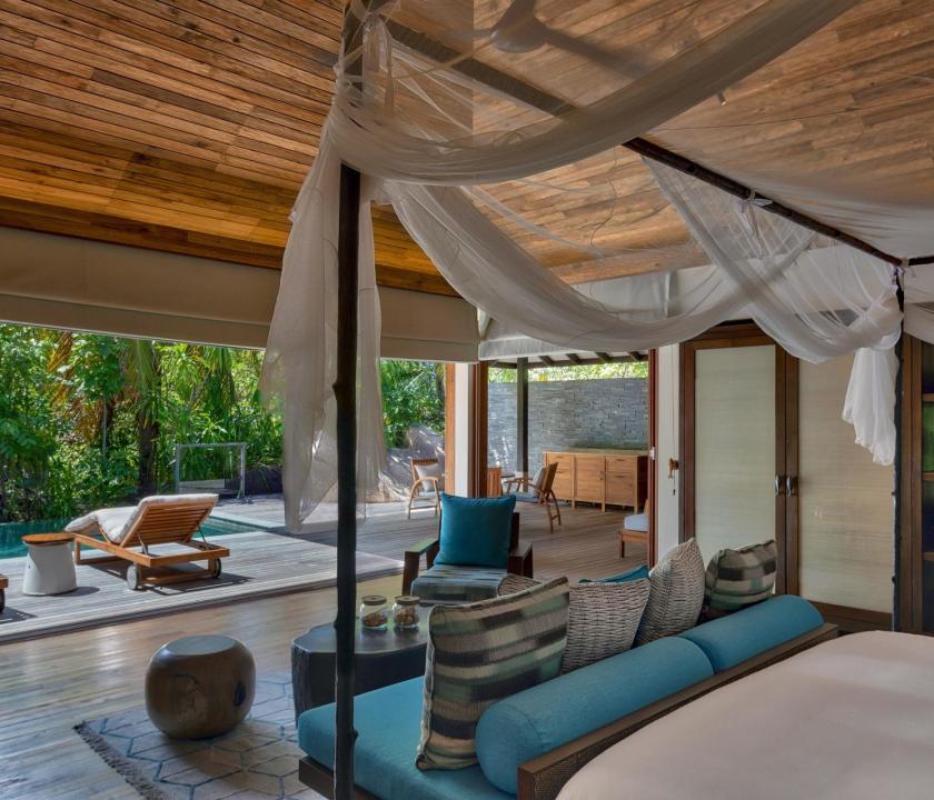 Six Senses Zil Pasyon Hotel / Hideaway pool villa (Seychelle szigeteki utazások)