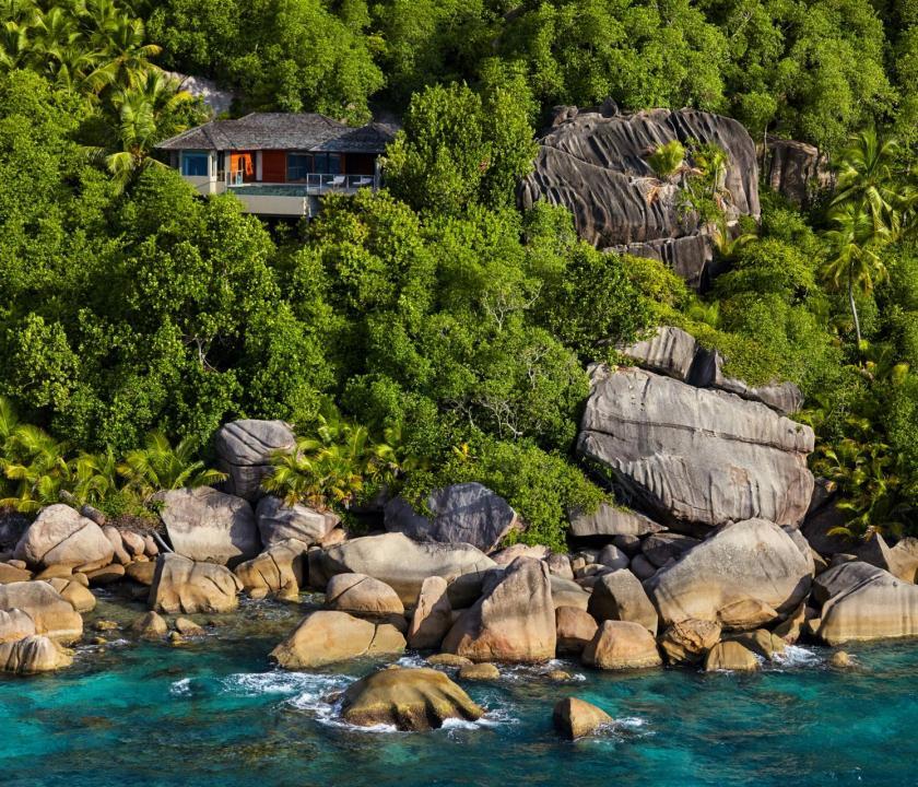 Six Senses Zil Pasyon Hotel / Oceanfront pool villa (Seychelle szigeteki utazások)