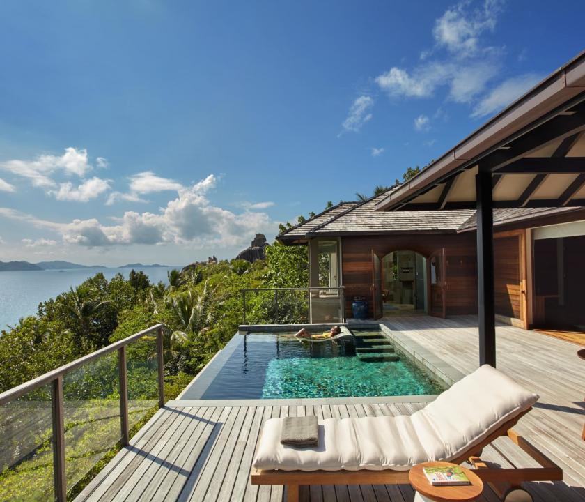 Six Senses Zil Pasyon Hotel / Panorama pool villa (Seychelle szigeteki utazások)