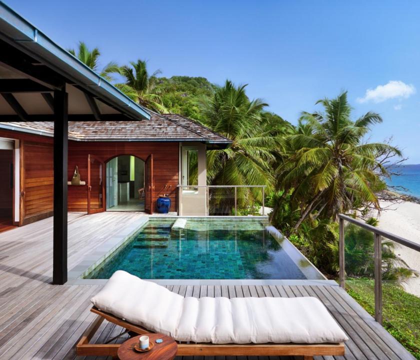 Six Senses Zil Pasyon Hotel / Pasyon pool villa (Seychelle szigeteki utazások)