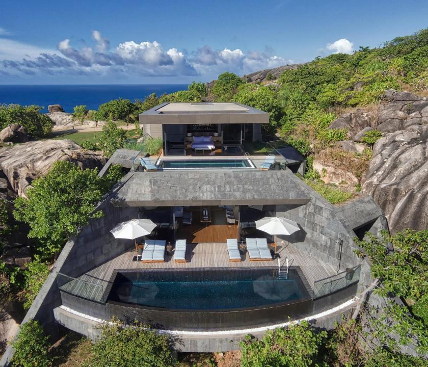 Six Senses Zil Pasyon Hotel / Three bedroom residence (Seychelle szigeteki utazások)