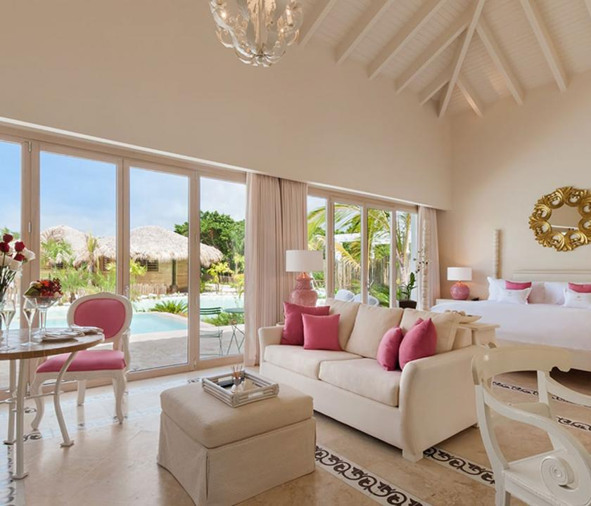 Eden Roc at Cap Cana / Luxury Pool Junior Suite - nappali (Dominikai utazások)