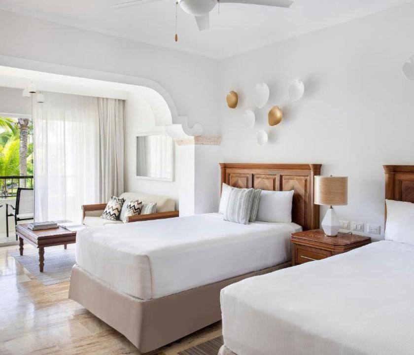 Paradisus Palma Real Golf & Spa Resort / Deluxe Junior Suite Garden view (KJR) - hálószoba (Dominikai utazások)