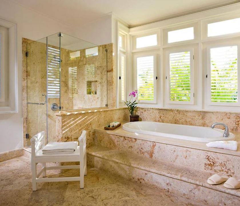 Tortuga Bay Puntacana Resort & Club / 3Bedroom Deluxe villa (ocean front) - fürdőszoba (Dominikai utazások)