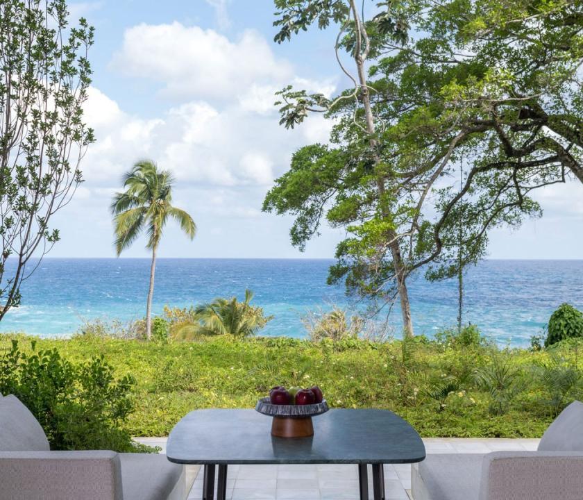 Amanera / Hill Casita - kilátás a teraszról (Dominikai utazások)