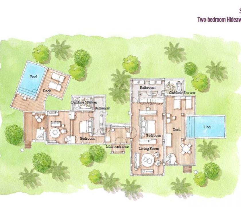 Six Senses Fiji / 2 Bedroom Hideaway Pool suite (Fidzsi-szigeteki (Fiji) utazások)