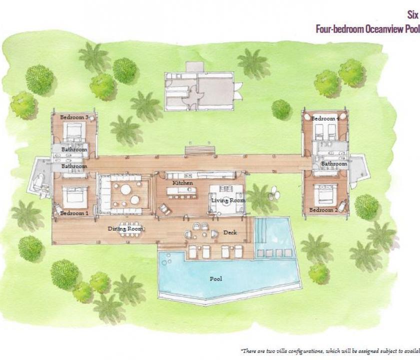 Six Senses Fiji / 4 Bedroom Oceanview Pool Residence (Fidzsi-szigeteki (Fiji) utazások)