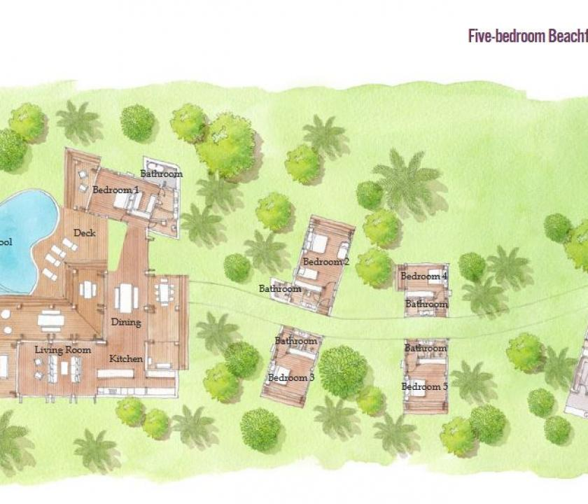 Six Senses Fiji / 5 Bedroom Beachfront Pool Residence (Fidzsi-szigeteki (Fiji) utazások)