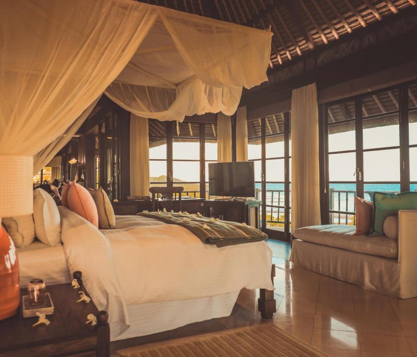 Fregate Island Private / Banyan Hill Estate - hálószoba (Seychelle szigeteki utazások)