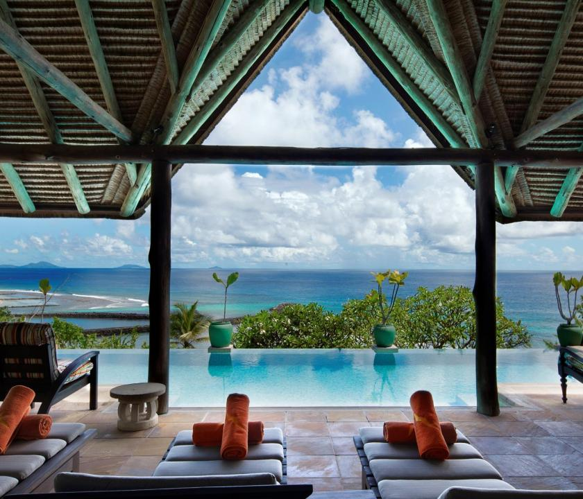 Fregate Island Private / Banyan Hill Estate - medence (Seychelle szigeteki utazások)